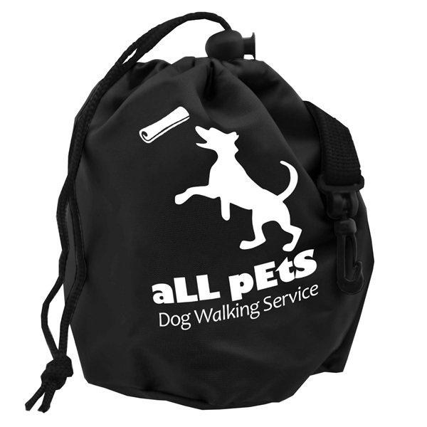Promotional Pet Treat Cinch Bag with Clip