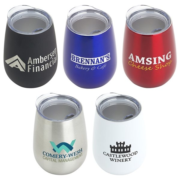 Promotional Cabernet 10 oz Vacuum Insulated Stainless Steel Wine Goblet