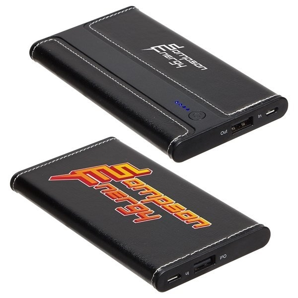 Promotional Envoy 4000 mAh Leather Power Bank