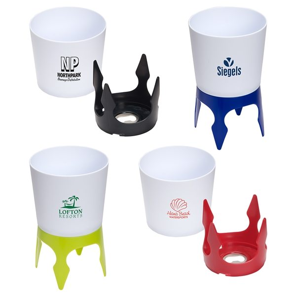 Promotional Sand Caddy Can Holder with Bottle Opener