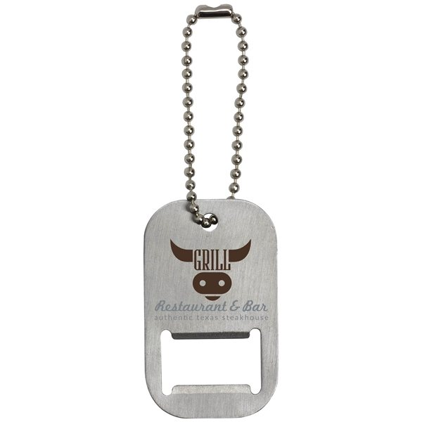 Promotional Dog Tag Bottle Opener Keytag