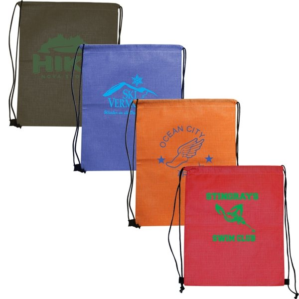 Promotional Criss Cross NW Drawstring Backpack
