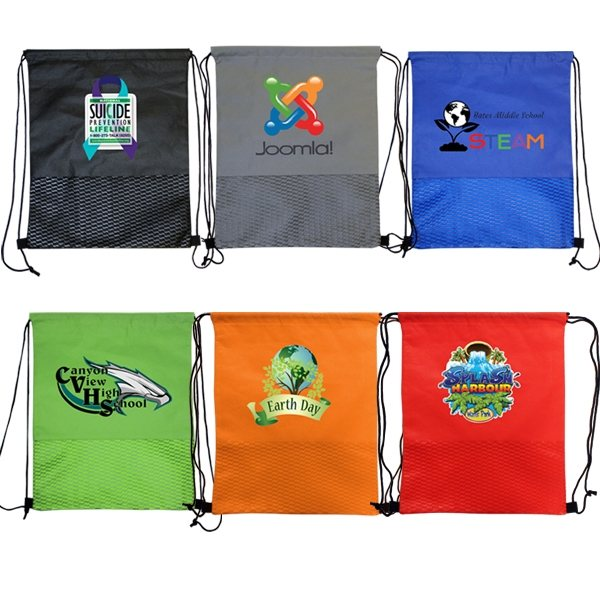 Promotional Wave NW Drawstring Backpack, Full Color Digital
