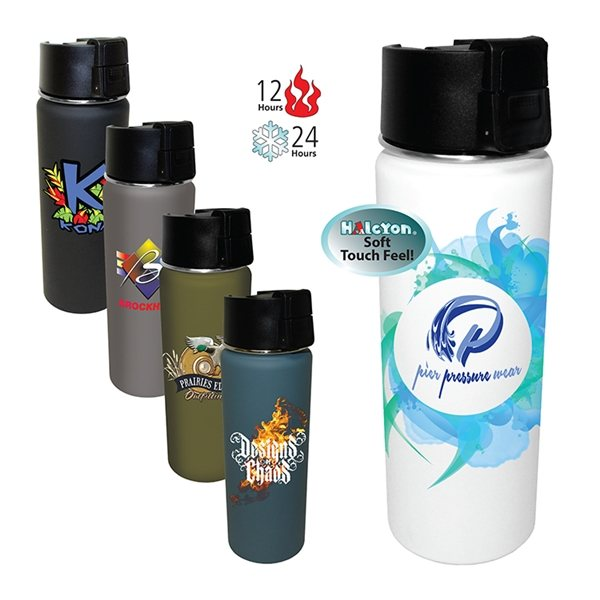Promotional 20 oz Halcyon(TM) Sport Bottle, Full Color Digital