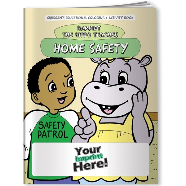 Promotional Coloring Book - Home Safety With Harriet The Hippo