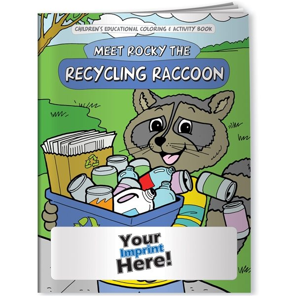 Promotional Coloring Book - Meet Rocky The Recycling Raccoon