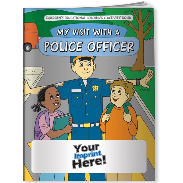 Promotional Coloring Book - My Visit With A Police Officer
