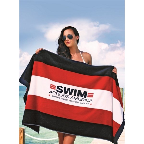 Promotional Stripped Spinnaker Towel