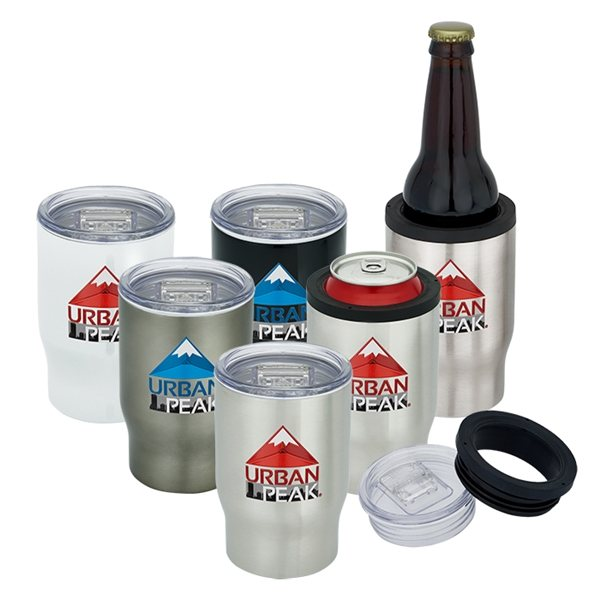 Promotional 12 oz Urban Peak(R) 3- in -1 Tumbler