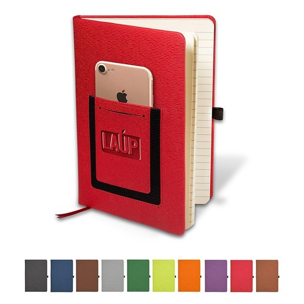 Promotional Roma Journal With Phone Pocket