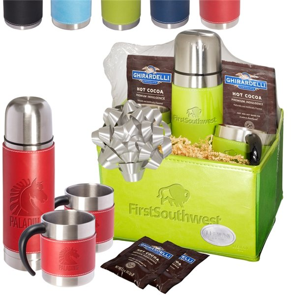 Promotional Tuscany(TM) Thermal Bottle Cups Ghirardelli(R) Cocoa Set