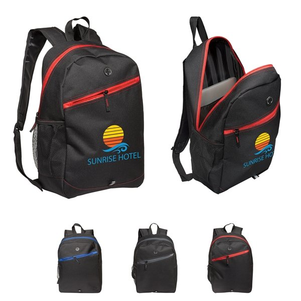 Promotional Color Zippin Laptop Backpack
