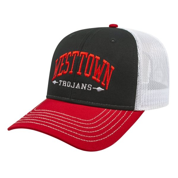 Promotional Modified Flat Bill with Mesh Back Cap