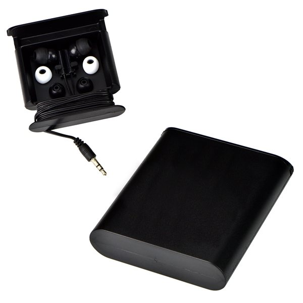 Promotional Ear Buds with Slider Stand Case