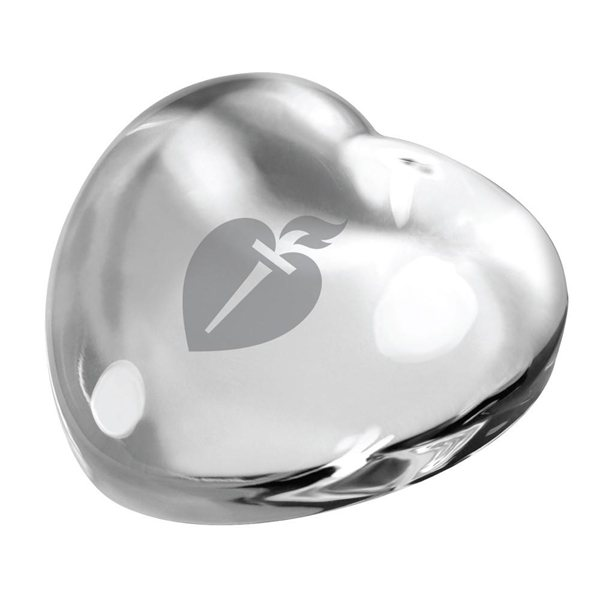Promotional Crystal Heart Paperweight (CLEAR)
