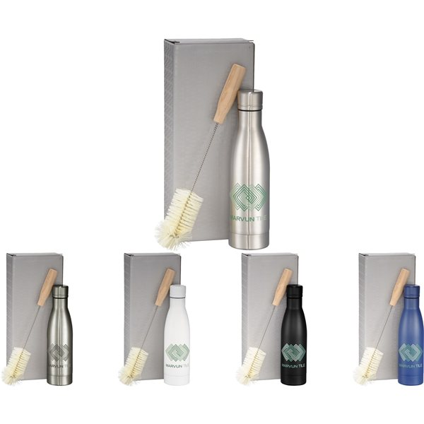Promotional Vasa Copper Vacuum Bottle with Brush 17 oz