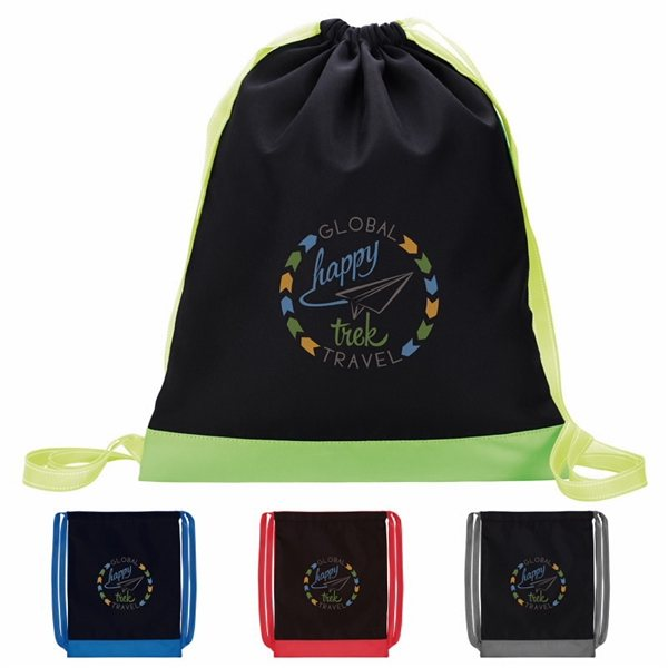Promotional Color Flip Drawstring Backpack