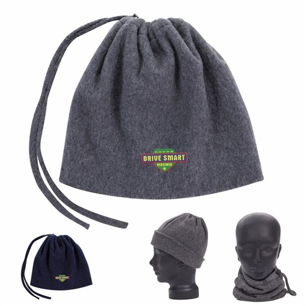 Promotional 2- in -1 Neck Warmer and Hat