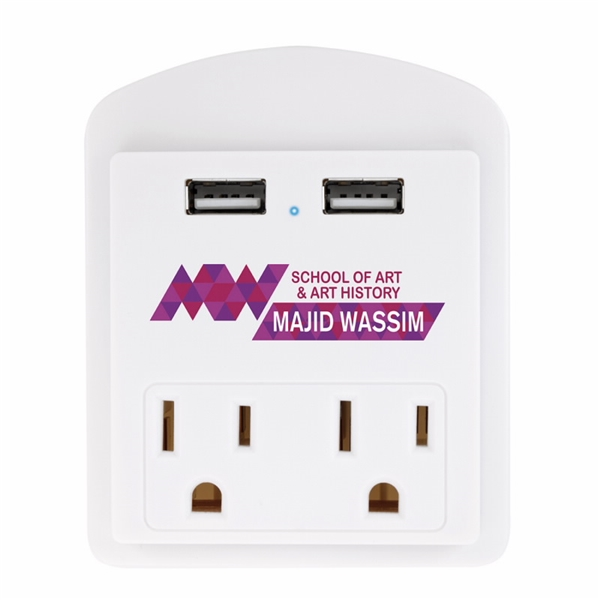 Promotional Modern USB Wall Adapter with Phone Holder