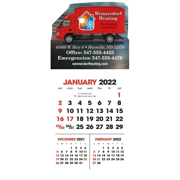 Promotional Full Color 3- Month View Stick Up Grid