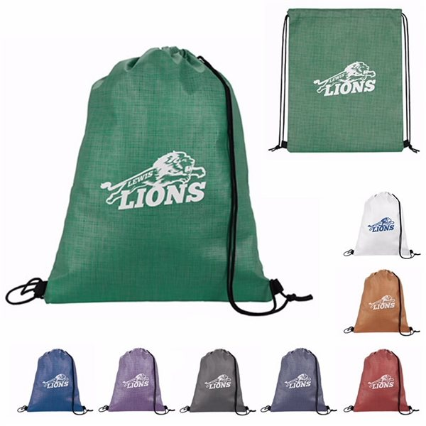 Promotional Non - Woven Shimmer Drawstring Backpack