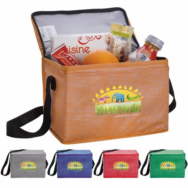 Promotional Non - Woven Shimmer Lunch Cooler