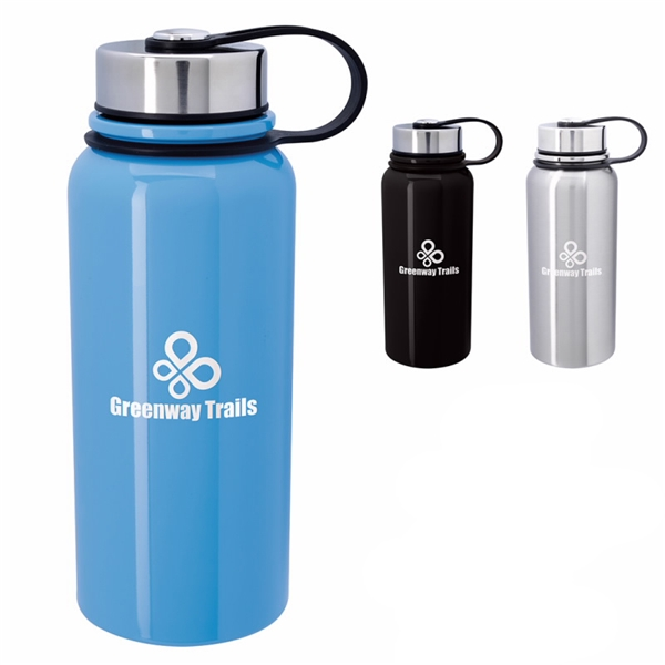 Promotional Mountain Vacuum Stainless Steel Bottle - 34 oz