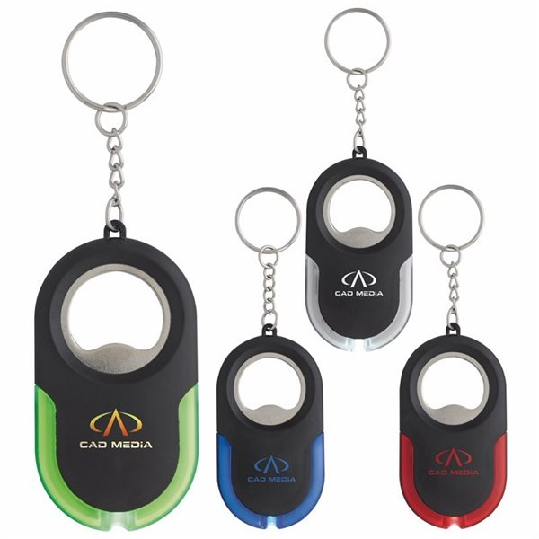Promotional Eclipse Keylight with Bottle Opener