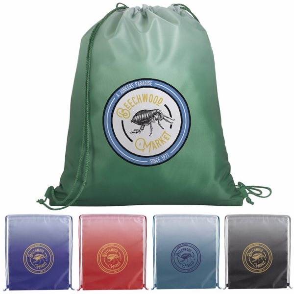 Promotional Gradient Drawstring Backpack