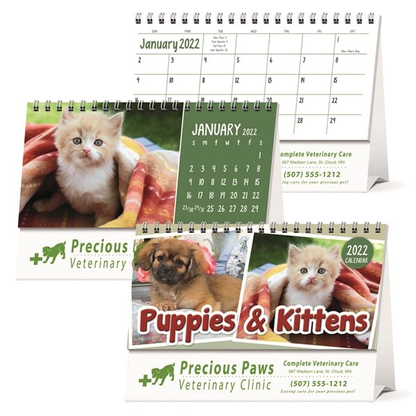 Promotional Puppies Kittens Desk