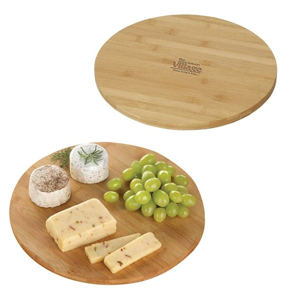 Promotional Bamboo Lazy Susan Rotating Serving Plate