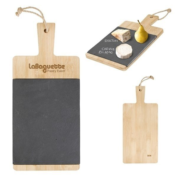 Promotional Bamboo Slate Charcuterie Cutting Board