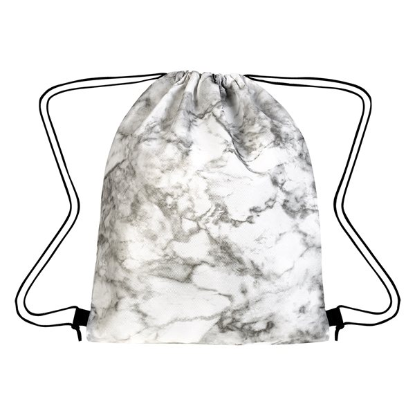 Promotional Marbled Non - Woven Drawstring Bag