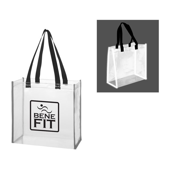 Promotional Clear Reflective Tote Bag