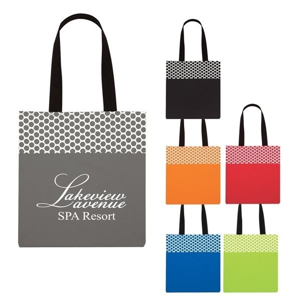 Promotional Polka Dot Accent Tote Bag