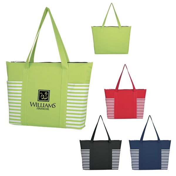 Promotional 600D Polyester Maritime Tote Bag