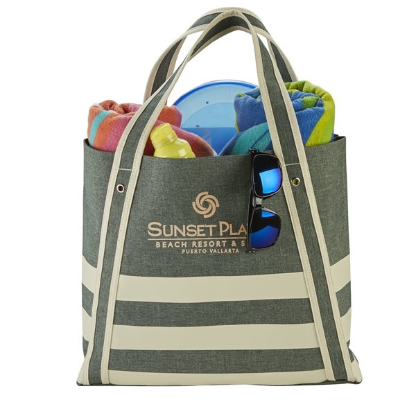 Promotional Polyester Seaport Boat Tote