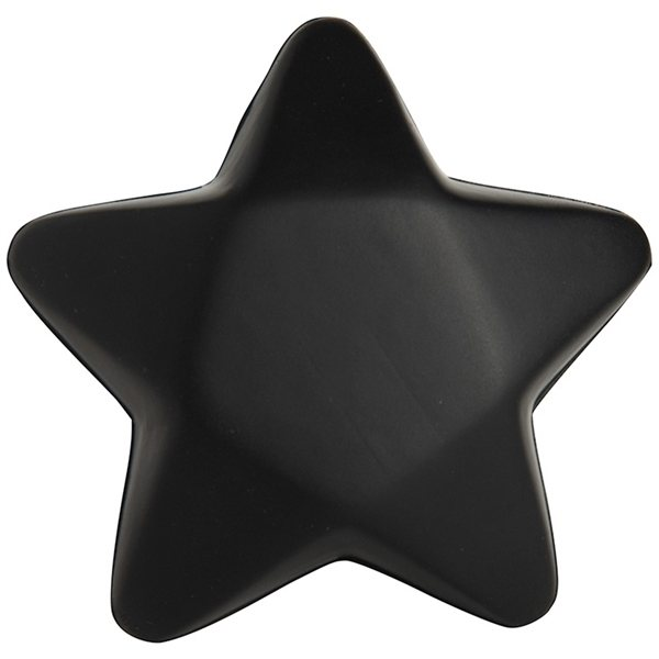 Promotional Black Star Squeezies Stress Reliever