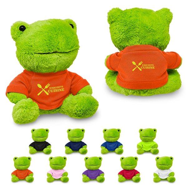 Promotional 7 Plush Frog With T - Shirt