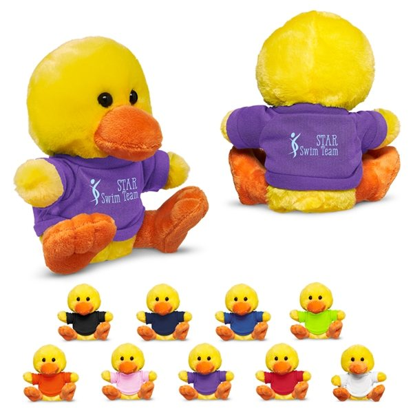 Promotional 7 Plush Duck With T - Shirt