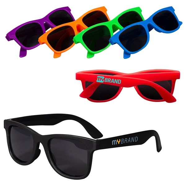 Promotional Youth Single - Tone Matte Sunglasses