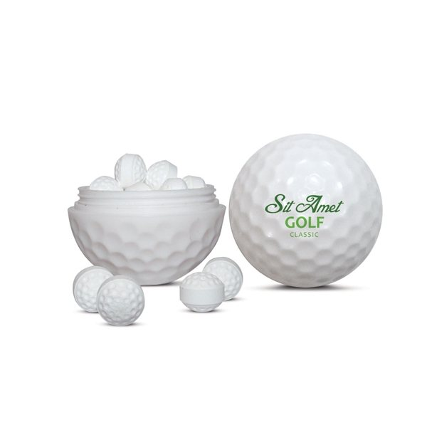 Promotional Golf Ball Sweets Container