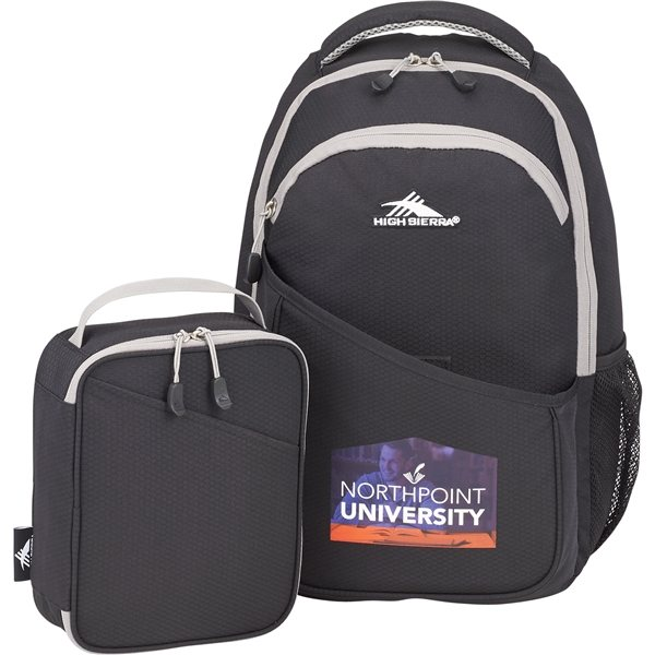 Promotional High Sierra 15 Computer Backpack w / Lunch Cooler