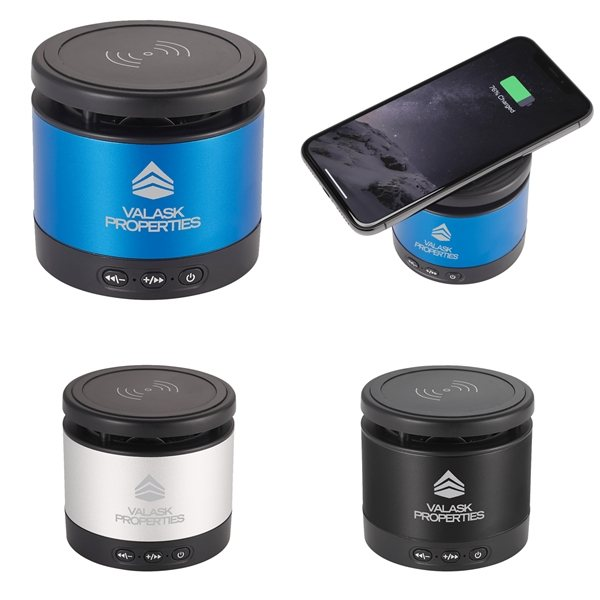 Promotional Metal Bluetooth Speaker and Wireless Charging Pad