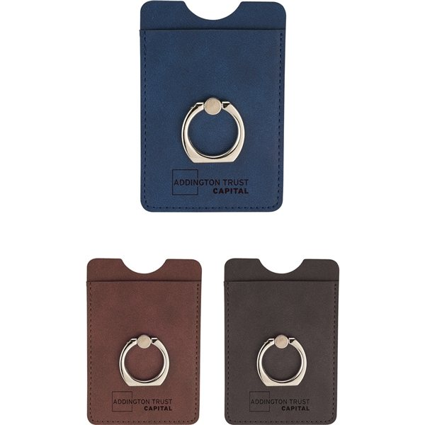 Promotional RFID Premium Phone Wallet with Ring Holder