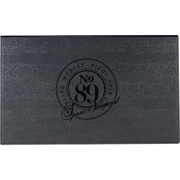 Promotional Laguiole(R) Black Kitchen Knife and Cutting Board Set