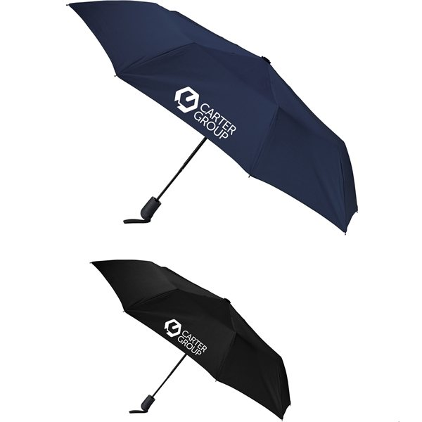 Promotional 42 Heathered Strap Auto Open Umbrella