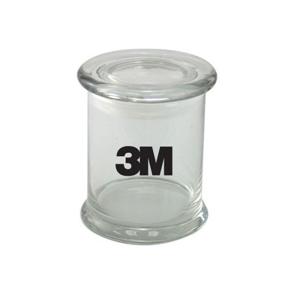 Promotional 3 1/2 Round Glass 12oz Jar with No Fill