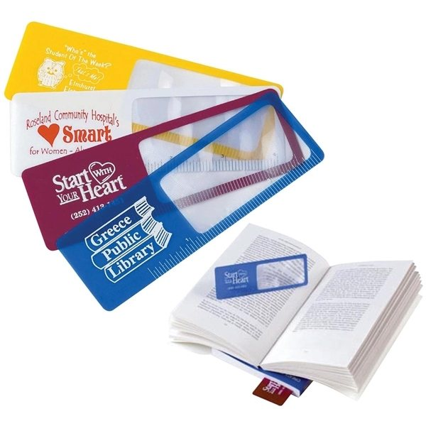 Promotional Bookmark Magnifier (5x Magnification)