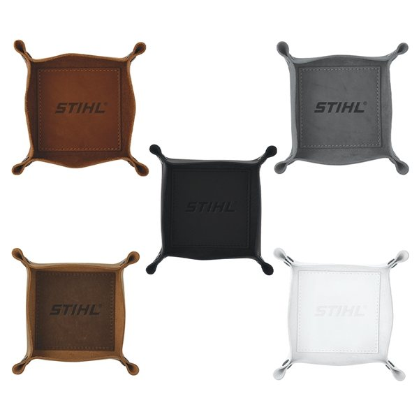 Promotional Leather valet catch - all tray